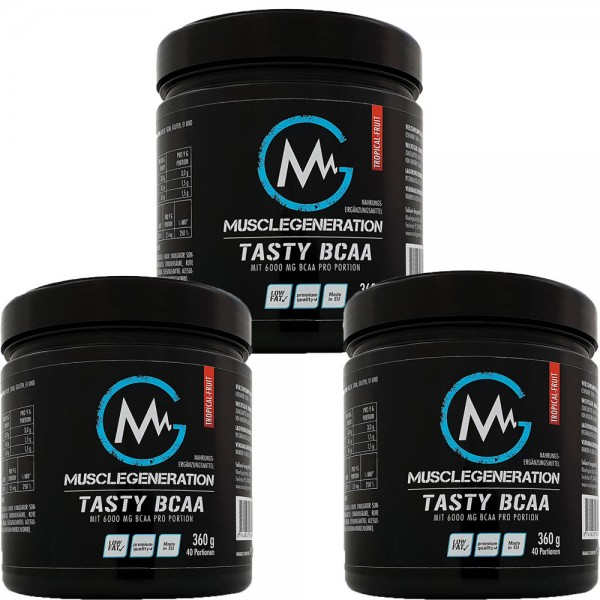 Musclegeneration Tasty BCAA 360g 3er Pack MHD 31.10.2020