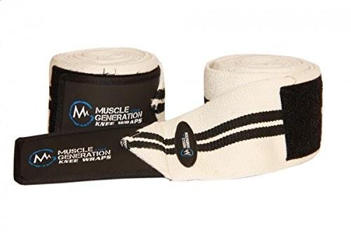 Musclegeneration Kniebandage weiß/schwarz