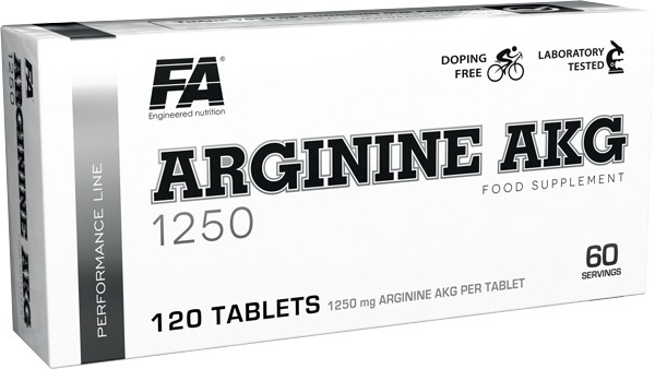 Fitness Authority Arginine AKG 1250 Performance Line 120 Tabletten